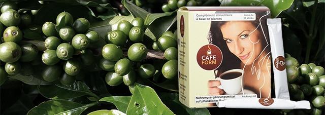Schlanke rechte grüne Kaffeebohnen-Tabletten